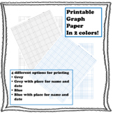 Printable 1/4 inch graph paper