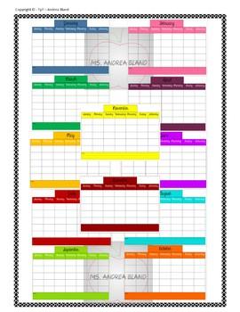 Printable 12-Month Calendar