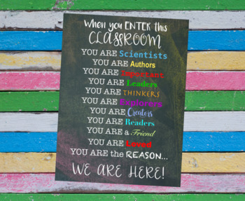 Printable 18x24 Poster - Back to School - Classroom Decor