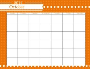 Printable 2014-2015 School Year Calendar!