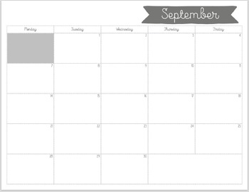 Printable 2015-16 School Year Calendar