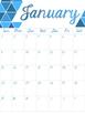 Printable 2016-2017 Ombre Calendar