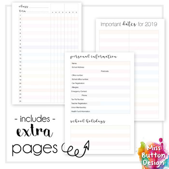 Printable 2018 Teacher Diary Planner - NSW (Eastern District) School Term Dates