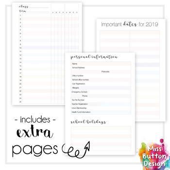 Printable 2018 Teacher Diary Planner - Northern Territory School Term Dates