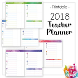 Printable 2018 Teacher Diary Planner - VIC School Term Dates