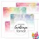 Printable 2019 Calendar - Monthly - Western Australia WA - Paint Texture Design