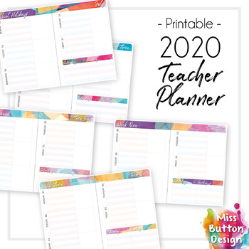 graphic regarding School Planner Printable named Printable 2019 Instructor Diary Planner - SA (Own) Faculty Phrase Dates
