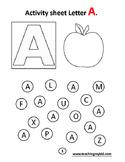 Alphabets coloring activity book