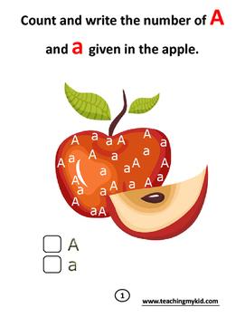 Kindergarten Count & Circle The Alphabets