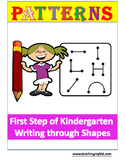 Kindergarten Patterns Practice Workbook.