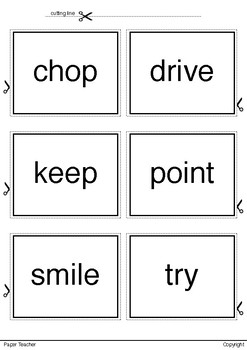 Printable 36 Verbs Set 3 Ready to Print and Cut