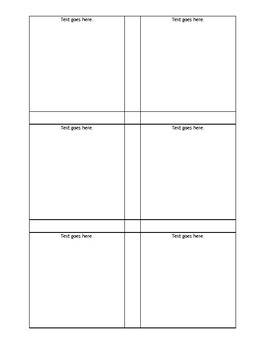 Printable 3x3 Sticky Note Template