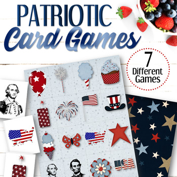 Printable 4th of July Memory Game - INSTANT DOWNLOAD
