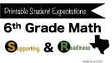 Printable 6th Grade Math Student Expectations - Texas