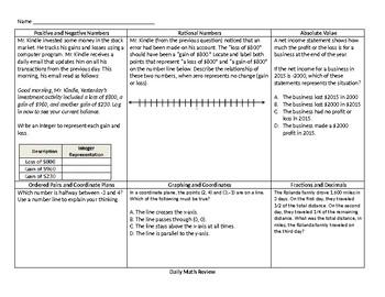 Printable 6th Grade Morning Work