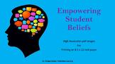 "Printable 8.5""x11"" Empowering Student Beliefs"