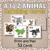 Printable A to Z Animal Matching Game