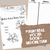 Indonesian New Vocabulary Booklet PDF