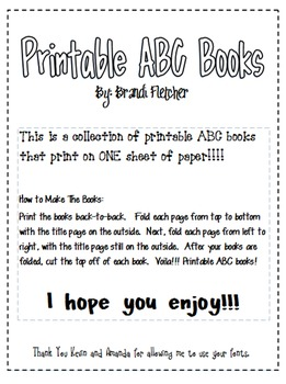 Printable Alphabet Books