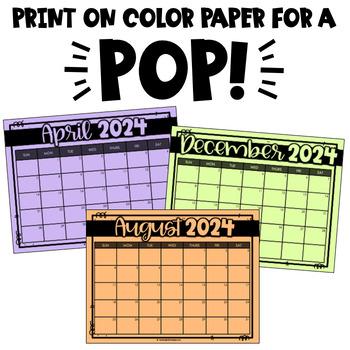Printable & Digital Editable Calendar 2020-2021 for Google ...