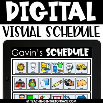 Printable AND Digital Visual Schedule (PowerPoint or Google Classroom)