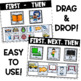 Digital and Printable Visual Schedule Cards | First Then Board