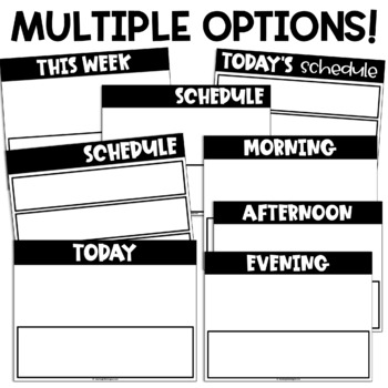 Visual Schedule Editable | First Then Board | Printable and Digital