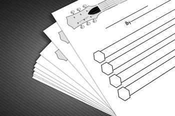 Acrostic Poem Worksheet: Guitar Theme