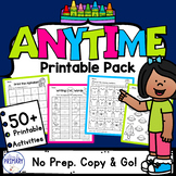Printable Activities - Math and Literacy