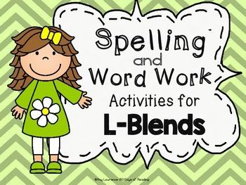 Printable Activities for L-Blends {bl,cl,fl,gl,pl,sl}