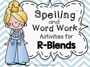 Printable Activities for R-Blends {br,pr,gr,cr,tr,fr,dr}