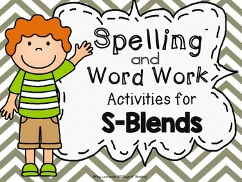 Printable Activities for S-Blends {sc,sk,sm,sn,sp,st,sw}