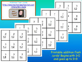 Printable Addition Flash Cards