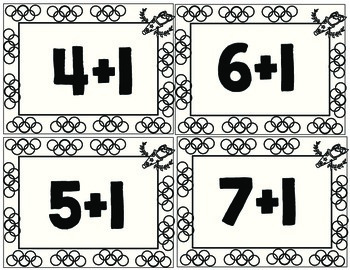 Printable Addition Flashcards - Olympic Borders (Sums to 10)