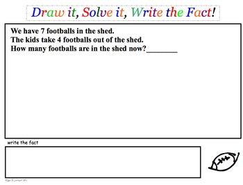 Printable Addition & Subtraction Story Problems SETS 1-3 (bundle)