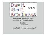 Printable Addition & Subtraction Story Problems Set 1 Primary Grades