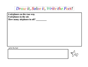 Printable Addition & Subtraction Story Problems Set 3 Primary Grades