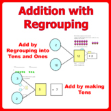 Addition with Regrouping (add within 20) Double and Single Digits