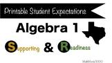 Printable Algebra 1 Student Expectations - Texas