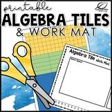 Algebra Tiles Printable Manipulatives and Work Mat