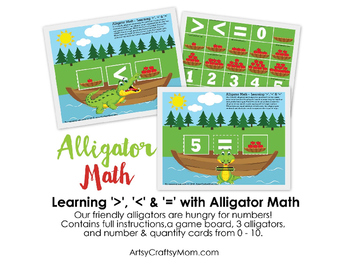 Alligator Math Game - Learn Greater than less than & equal to