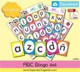 Printable Alphabet Bingo / Lotería Abecedario en INGLES para imprimir