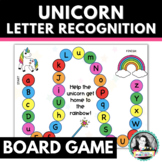 Printable Alphabet Board Game w/ Unicorn Letter Recognition