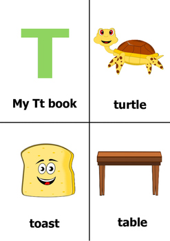 Printable Alphabet Book - Letter T