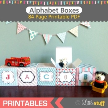 Printable Alphabet Boxes, Quick and Easy Craft or Classroom Decor