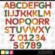 Printable Alphabet FALL INTO AUTUMN LFLF Seasonal Letters Numbers Clip Art