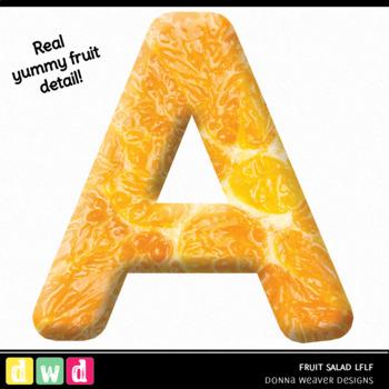 Printable Alphabet FRUIT SALAD LFLF Food Letters Numbers Clip Art