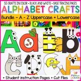 Alphabet Crafts for each letter BUNDLE Uppercase + lower Alphabet Letter Crafts