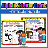 Alphabet Crafts BUNDLE Uppercase lowercase Alphabet Letter