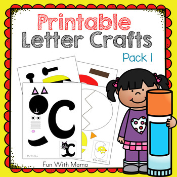 picture about Printable Letter I titled Printable Alphabet Letter Crafts Pack 1